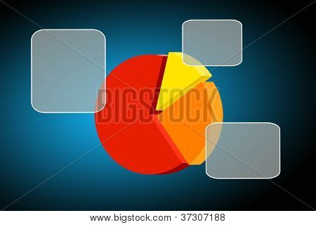 Colorful Pie Chart- Graph