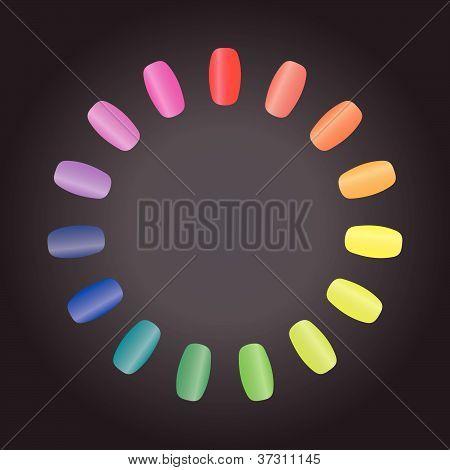 Nails rainbow