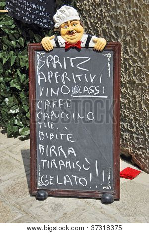 Blackboard In Venice