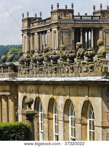A View Of Chatsworth House Details, England