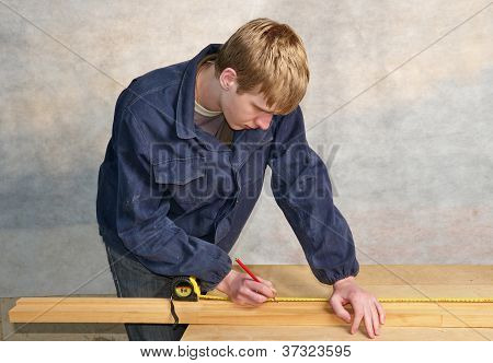Working young man