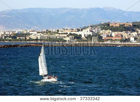 Cagliari Is The Capital Of Island Sardinia Italy