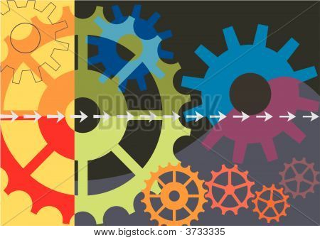 Dynamic Colorful Vector Background