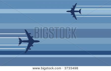 Flying Aircraft Stylized Illustration