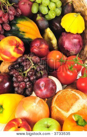 Autumn Produce Background