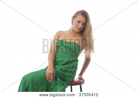 Cute Portrait Of Sensual Caucasian Blond Girl