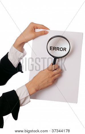 Error in working process