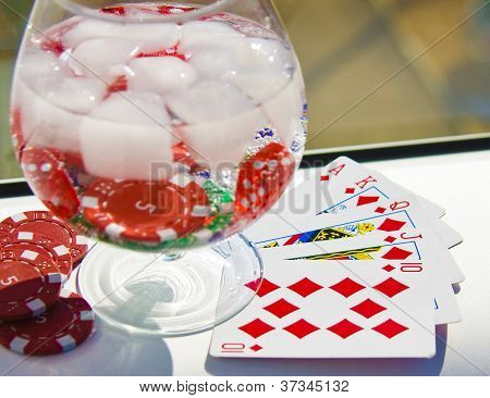 Cocktail Of The Player In Poker