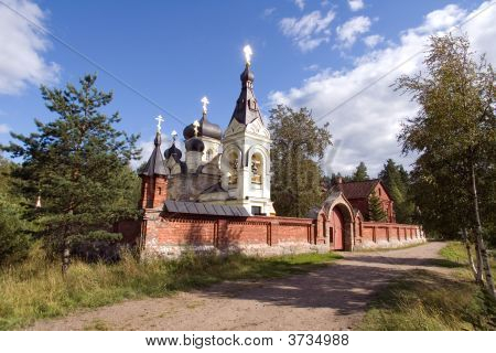 Orthodox Church In Island Konevets
