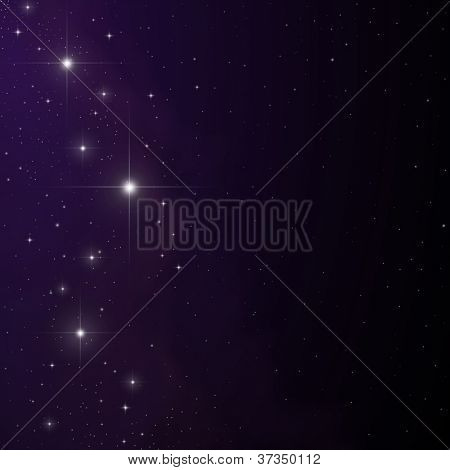 Stars and nebula vector