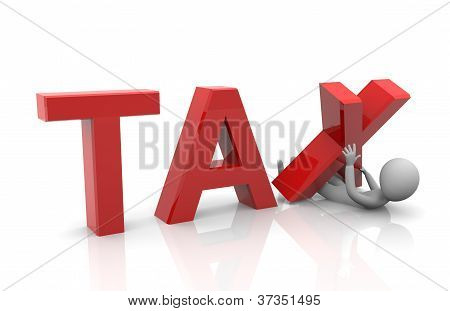 3d person struggling with tax