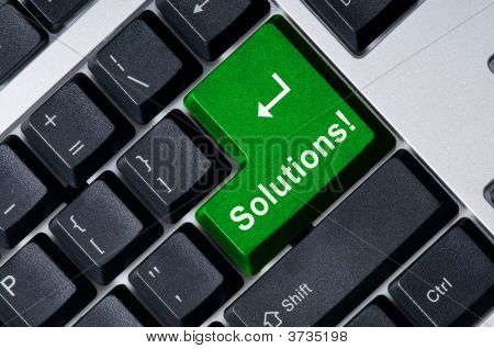 Keyboard With Green Key Solution