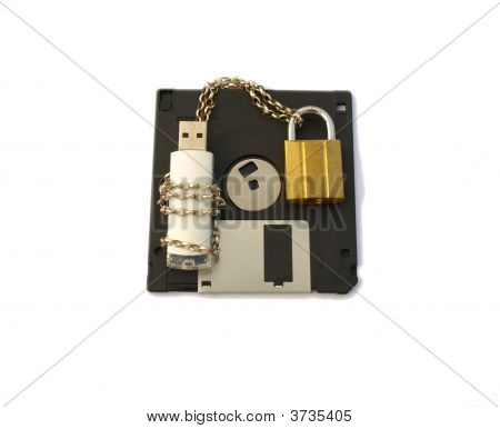 Secure Data Memory Stick And Floppy
