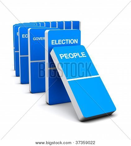 Election Blue Domino