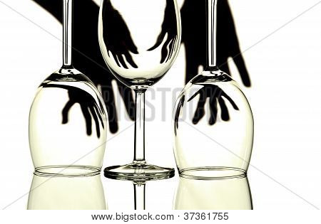 Wine Glasses Abstract