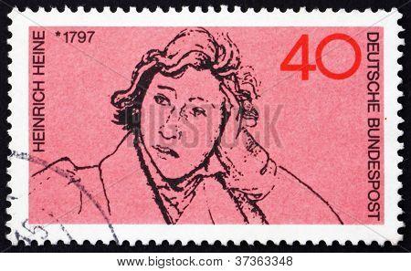 Postage stamp Germany 1972 Heinrich Heine, Poet