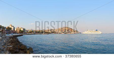 Morning Panorama Of Kusadasi Turkey