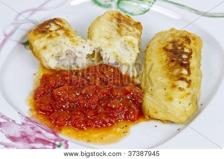 Hake Fillet With Fresh Tomato Sauce