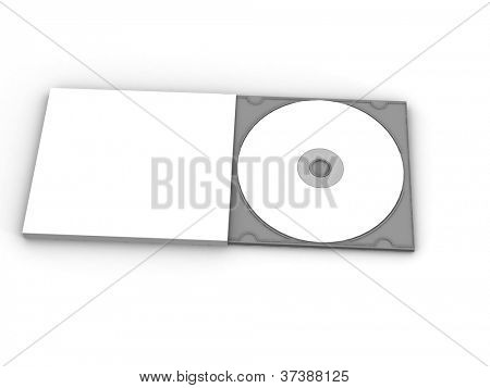 Blank DVD CD case and disc