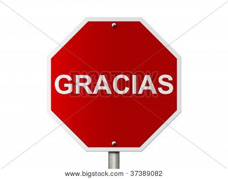 Alto Sign With Word Gracias