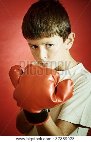 Young Boy Ready To Box