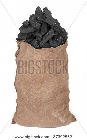 Coal in big sack
