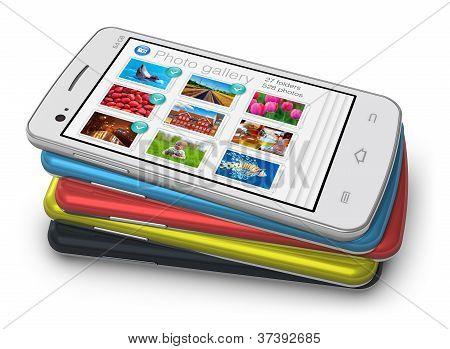 Satz von Touchscreen-smartphones