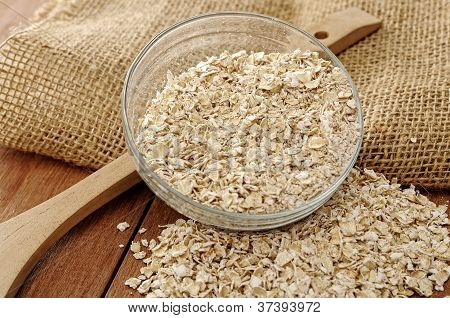Oatmeal In Glass Bowl