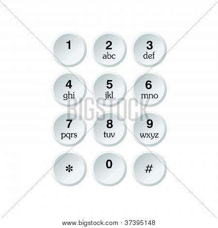 Vector de marcador de teléfono
