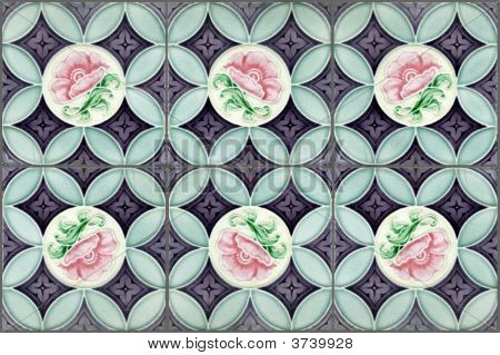 Nyonya Tiles With Pink Flowers2
