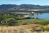 image of penticton  - Downtown Penticton on the shores of Okanagan Lake - JPG