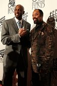 NEW YORK-SEPT. 24: Former basketball players Alonzo Mourning (L) and Walt Frazier attend the 27th Gr