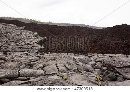 Aa And Pahoehoe Lava Types