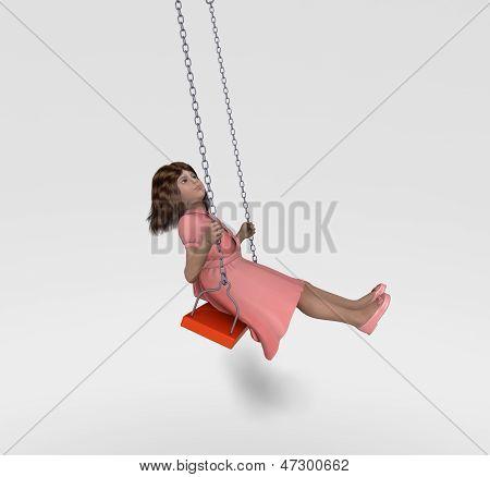 Girl swinging