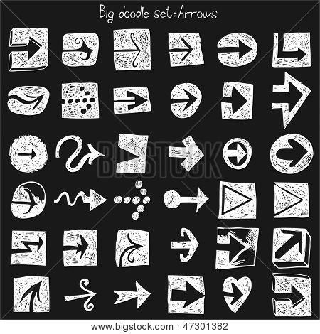 Hand drawn set - arrows