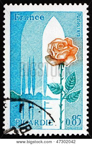 Postage Stamp France 1975 Picardy And Rose, Region Of France