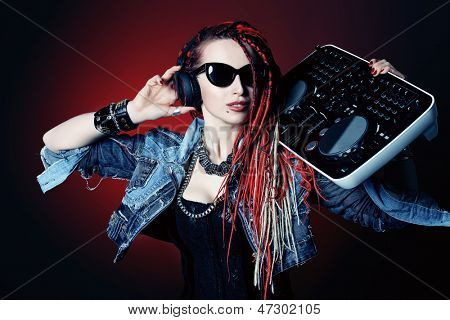 Modern DJ mixing up some party music.