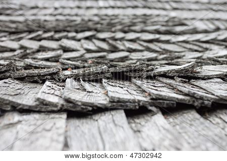 Old Worn Shingle Roof Pattern