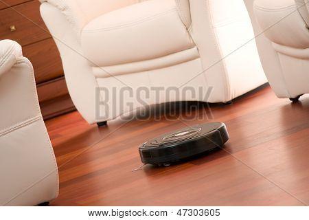 Robô de limpeza em casa