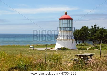 Lighthouse In Shelter Cove, California.