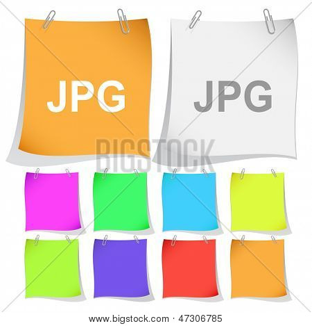 Jpg. Raster note papers. Vector version is in portfolio.