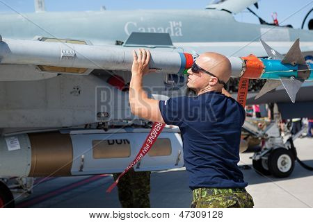 Royal Canadian Air Force (rcaf) Cf-18 Technician