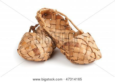 Bast Shoes Isolated Over White