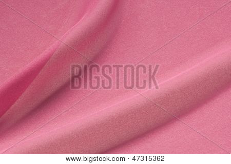 Textured Shocking Pink Silk Crepe Fabric In Folds