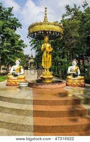 Shin Upagutta Statue In Wat Sri Don Moon , Chiangmai Thailand