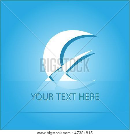 Abstract monetary sign. Paper sticker as bookmark. Vector illustration. Eps10.