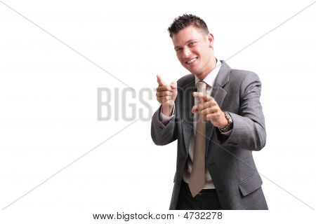 Yeah! - Young Excited Businessman