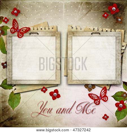 Vintage Framework For Invitation Or Congratulation
