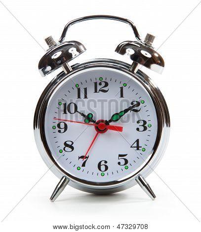 Classic Alarm Clock Isolated On White