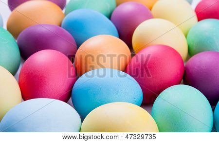 Beautiful Colored Easter Eggs.